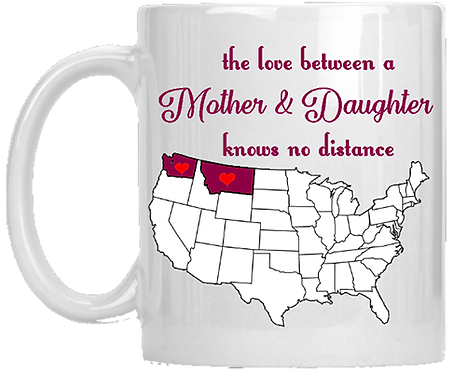 The Love Between A Mother & Daughter Coffee Mug