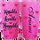 Thumbnail: 20 oz. Bubblegum Glitter Kissable Lovable Huggable Custom Travel Mug