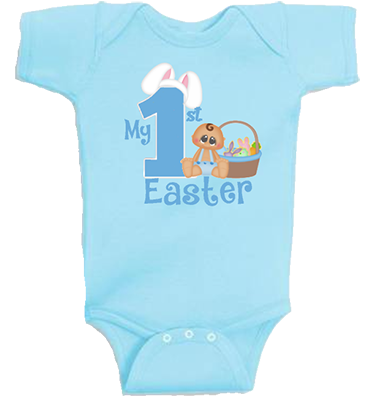 Baby Boy 1st Easter Infant Onesie