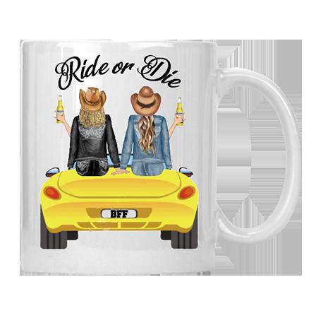 Ride or Die BFF Mug