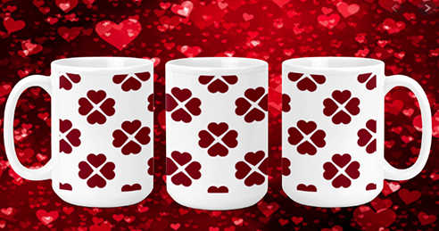 Heart Clover 15oz Valentine Mug