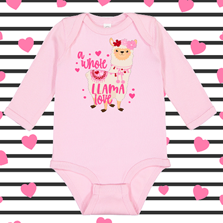 A Whole Llama Love Onesie or Toddler Tee