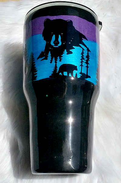 Bear Scene 30 oz Custom Tumbler