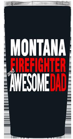 State Firefighter 20 oz Custom Tumbler