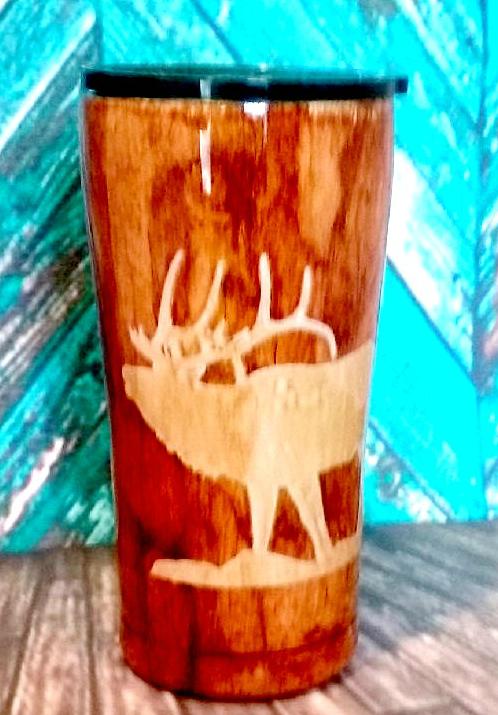 Woodgrain w/Elk Travel Mug