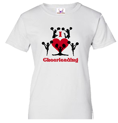 I Love Cheerleading 1 Tee