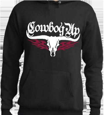 Cowboy Up Skull Hoodie