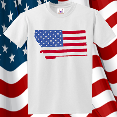 State Shape Flag Tee