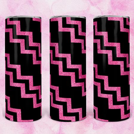 Pink Black Chevron 20 or 30oz Skinny Custom Tumbler