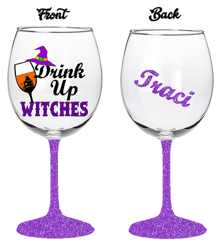 20oz Drink Up Witches Wine Glass