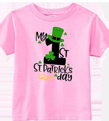 1st St Patricks DayTophat Infant/Toddler Tee