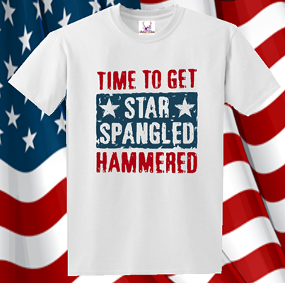 Time To Get Star Spangle Hammered Tee