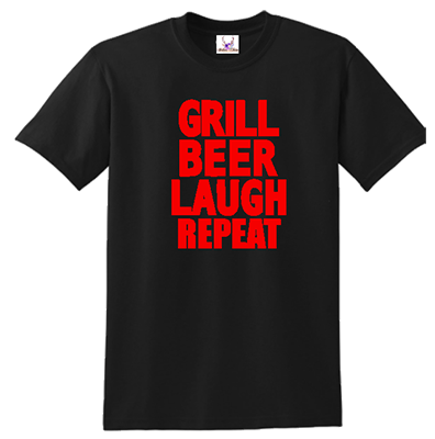 Grill Beer Laugh Repeat Tee
