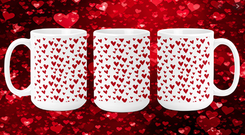 Tiny Hearts 15oz Valentine Mug
