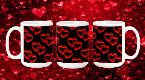 Hearts on Fire 15oz Valentine Mug