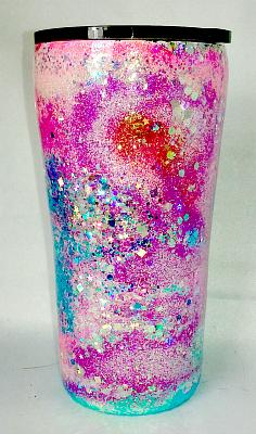 Pink/Aqua Swirl Custom 20 oz Tumbler