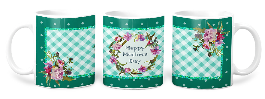 Happy Mothers Day Teal Coffee Mug