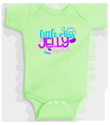 Little Miss Jelly Bean Infant Girls Onesie
