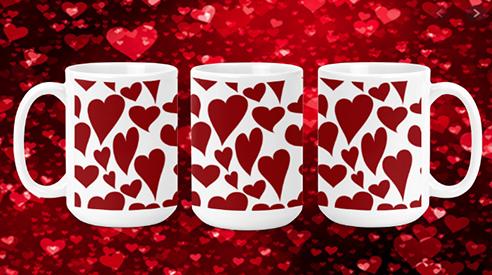Whacky Hearts 15oz Valentine Mug