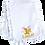 Thumbnail: 1st Easter Glitter Girl Ruffled or Scalloped Edge Burp Cloth