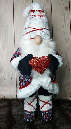 "Rune 29""T x 12""W standing Valentine Gnome"