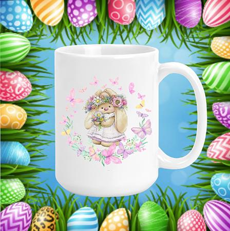 Spring Bunny & Butterflies