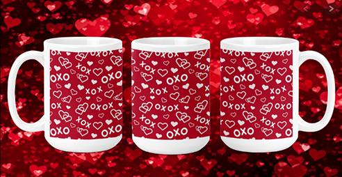 XoXo & Hearts 15oz Valentine Mug