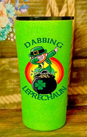 20 oz Dabbing Leprechaun