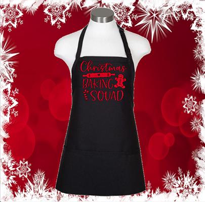 """Christmas Baking Squad 24"""" 3 Pocket Apron"""