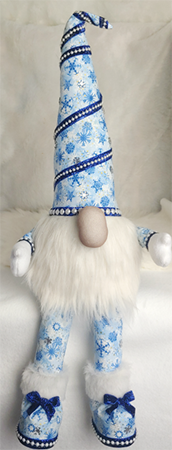Winkle McSnowflake Christmas Sitting Gnome