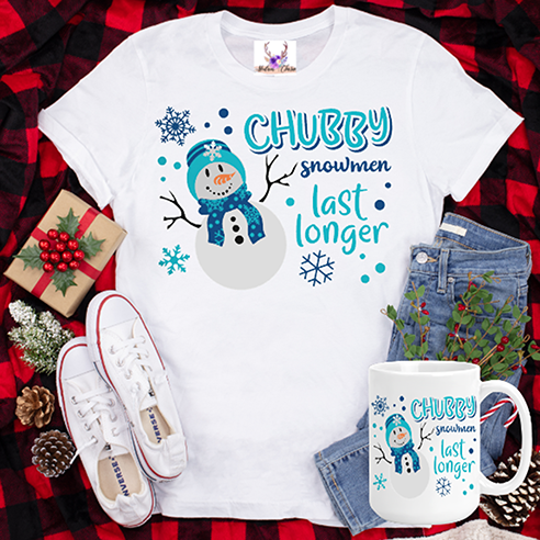 Chubby Snowman Tee