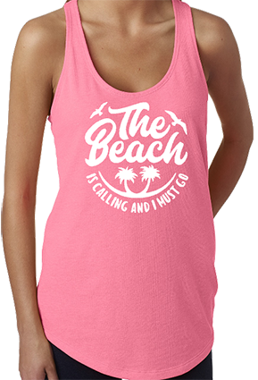 The Beach Is Calling Racerback Tank Top