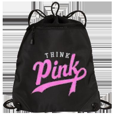 Cancer Awareness Zippered Cinch Bag