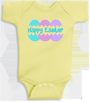 Happy Easter Eggs Infant Girls Onesie