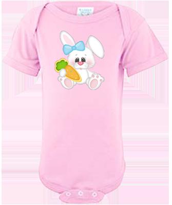Bunny Girl Holding Carrot Infant Onesie