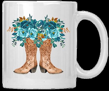 Boots w/Flowers Mug
