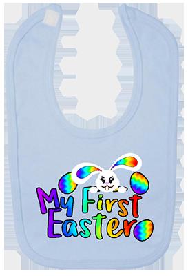 1st Easter Rainbow Bunny Bib
