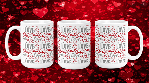 Love with Arrows 15oz Valentine Mug