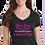 Thumbnail: Ladies Cancer Awareness V Neck Tee