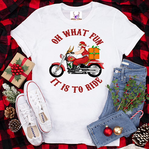 Oh What Fun It Is To Ride (motorcycle) Tee