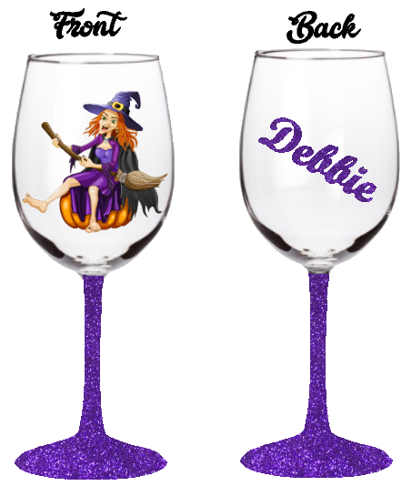 14oz Witch Wine Glass