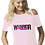 Thumbnail: Ladies Cancer Awareness Cold Shoulder Top