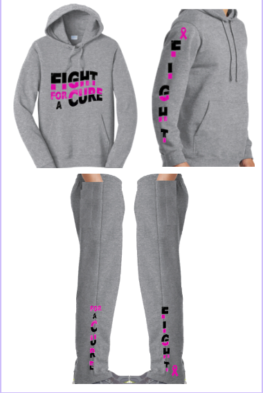 Mommy & Me Fight For A Cure Sweat sets
