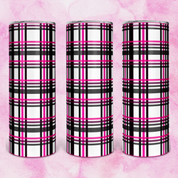 MCVT023 Black Pink Plaid