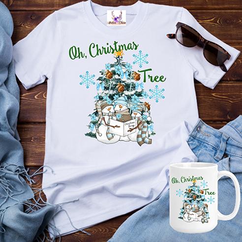 Oh Christmas Tree Snowmen Tee