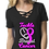 Thumbnail: Ladies Cancer Awareness Caged Front Top