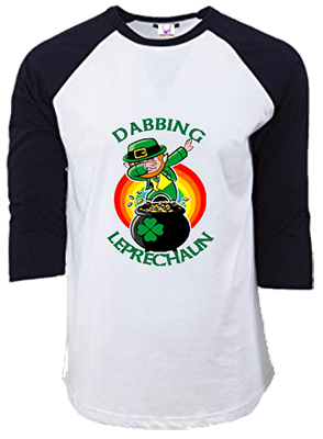 Dabbing Leprechaun Raglan