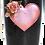 Thumbnail: 20 oz. Black Glitter Heart w Rose Custom Travel Mug