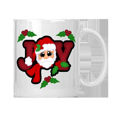Joy Santa Mug
