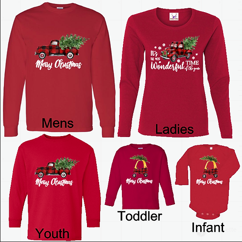 20% Off Family Christmas Long Sleeve Tee Special